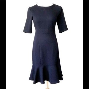 Chaps Short Sleeve Navy Dress